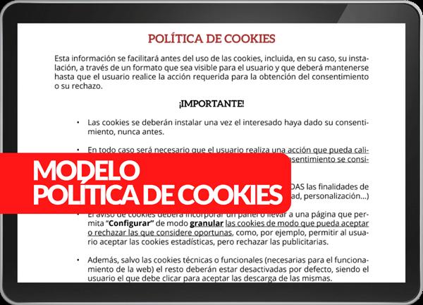 Modelo políticia de cookies