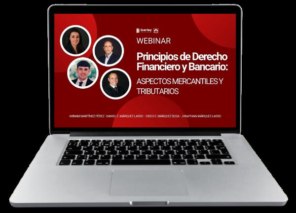 webinar sobre principios de Derecho Financiero y Bancario: aspectos mercantiles y tributarios