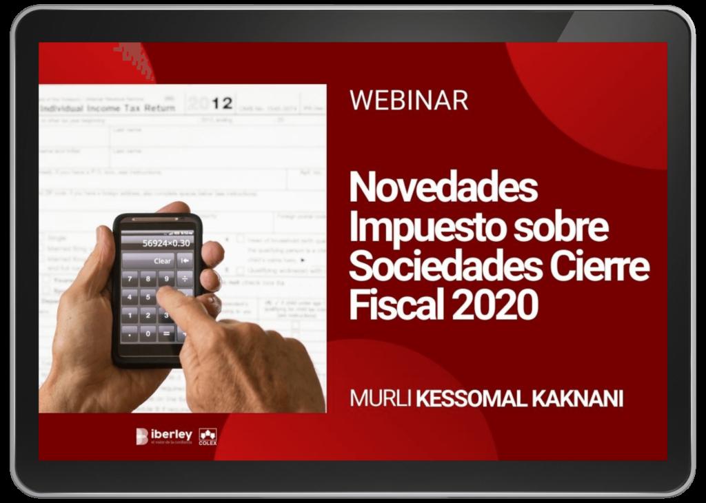 Novedades Impuesto sobre Sociedades Cierre Fiscal 2020