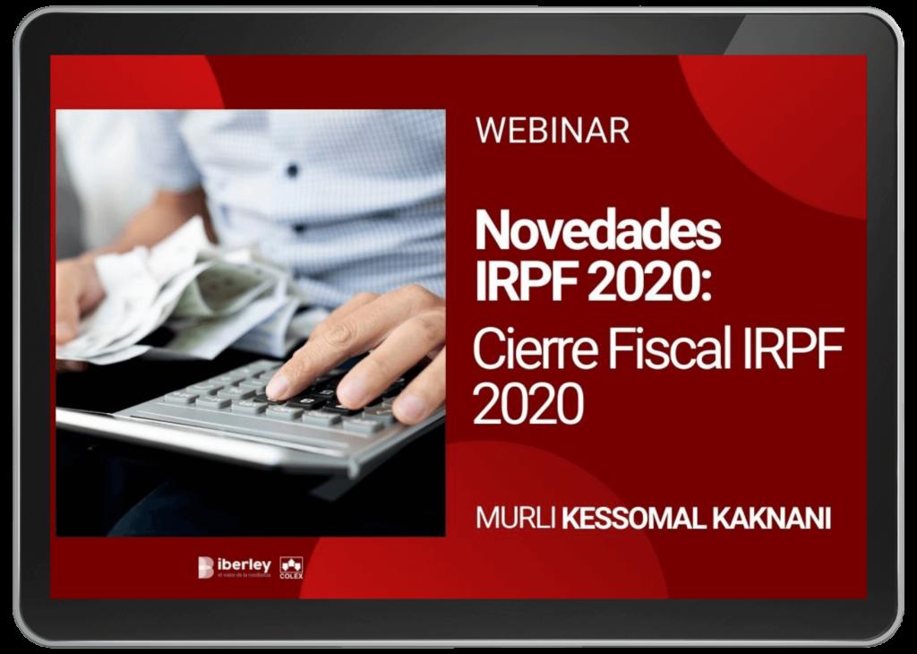cierre fiscal IRPF 2020