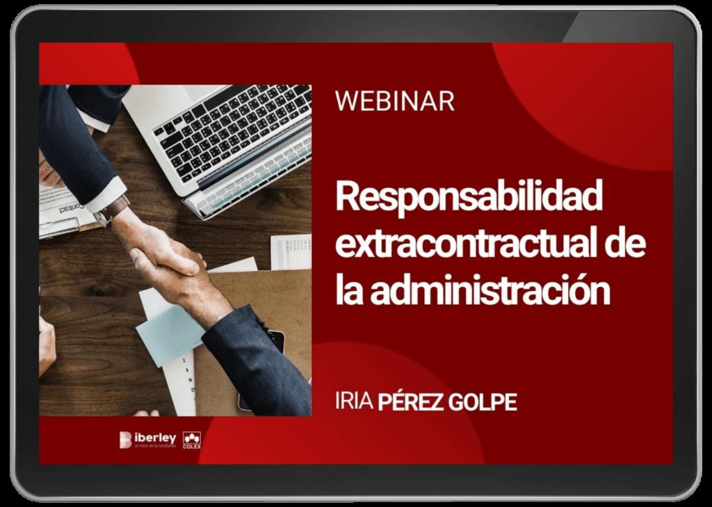 webinar sobre responsabilidad extracontractual de la administración