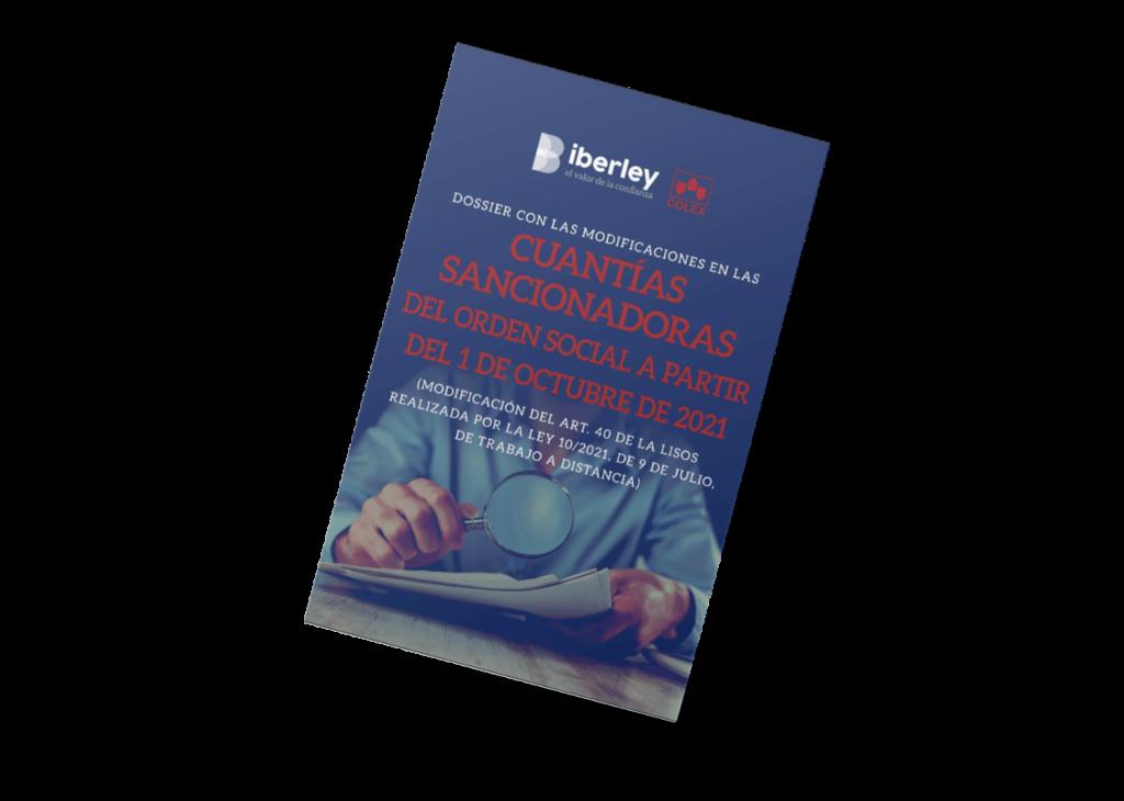 dossier con las modificaciones en las cuantías sancionadoras del orden social a partir de 1 de octubre de 2021