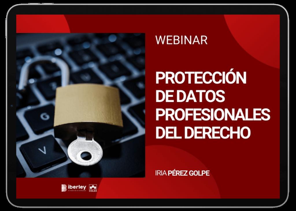 webinar sobre proteccion de datos. Abogados y procuradores