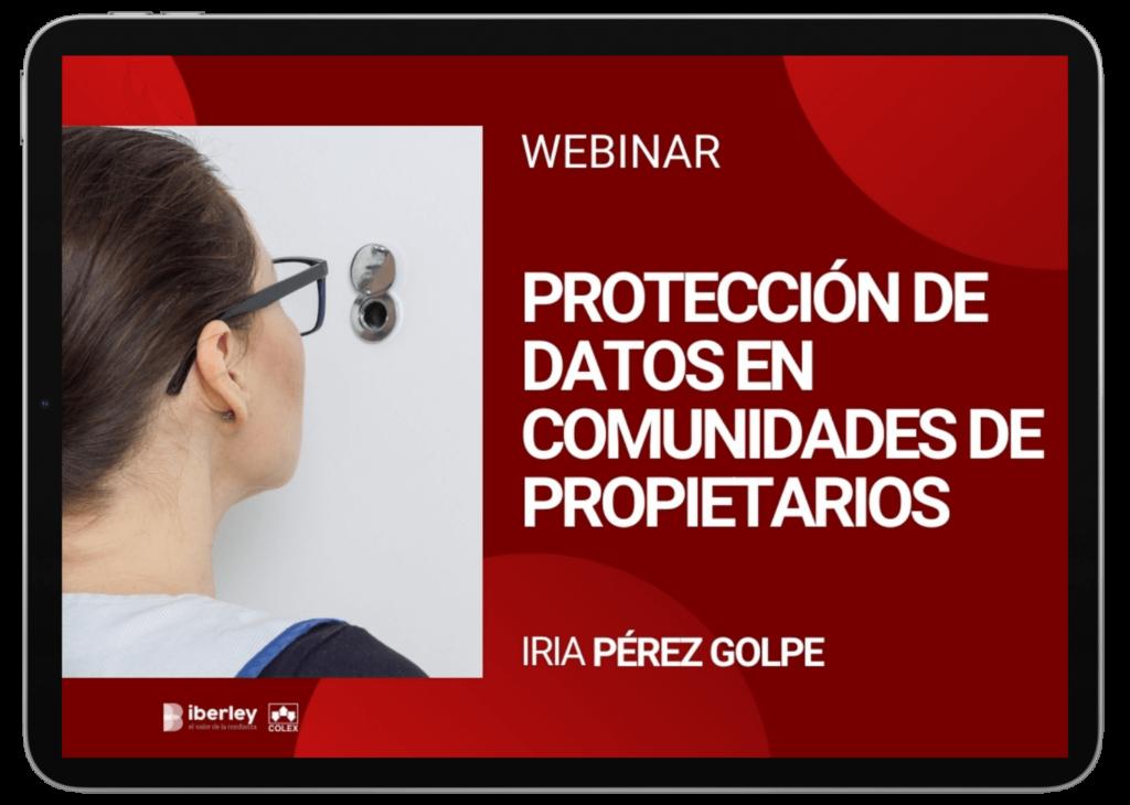 Webinar sobre protección de datos en las comunidades de propietarios